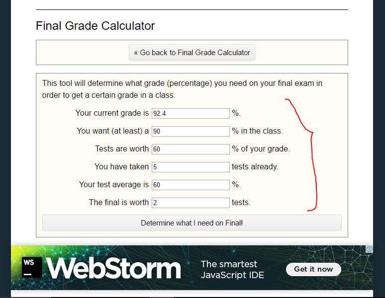rogerhub final exam calculator